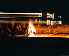 Fire Pit Pano (GPhace) Tags: 120mm 2019 kodak longexposure mamiya mediumformat portra400 rb67pros spring upstatenewyork bachelorparty firepit tripod
