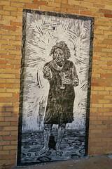 Street Art, Omaha, NE (Robby Virus) Tags: omaha nebraska ne street art black white mural people