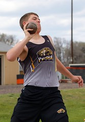 "Prairie Mustang Erik Lebsock threw 34' 6.75"" for a season best and 13th in the shot put.- PLDL4426 (Paul L Dineen) Tags: 5schools teams sports prairiemustangs brushbeetdiggers types track level varsity gender coed otherplaces places 201905 2019 dates 20190510"