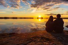 Watching sunset together (VisitLakeland) Tags: finland kallavesi kuopio kuopiotahko lakeland auringonlasku ilta järvi lake luonto maisema nature outdoor scenery sunset