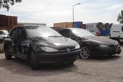 Peugeot 206 & Alfa Romeo 156 1.8 TS 30-10-2003 19-NK-JK (Fuego 81) Tags: alfa romeo 156 2003 19nkjk onk sidecode6 peugeot 206