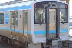 The Umineko Railway (しまむー) Tags: fujifilm xe2 ebc fujinon 55mm f18 velvia yokohama kabushima 横浜 蕪島 八戸 蕪島神社 菜の花