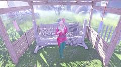 The Gacha Garden Event (Blogging Days) Tags: hutspot fuurin windchimes scandalize fairytale over knee boots swing bench outdoors picnic sakura fan japan kisetsu the gacha garden summer wind rare gift vanity event