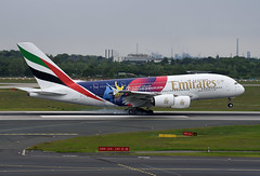 Emirates Airbus A380-861 A6-EOH England & Wales 2019 Cricket World Cup livery (EK056) Tags: emirates airbus a380861 a6eoh england wales 2019 cricket world cup livery düsseldorf airport