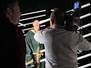 Filming World Champ Tyson Fury for BT Sport