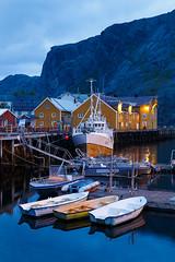 20180826-Canon EOS 6D-5164 (Bartek Rozanski) Tags: nusfjord nordland norway village fishing boat evening night lofoten harbour wharf warehouse yellow red cabin rorbu norwegian arctic sea flakstadøya norge noreg flakstadoya