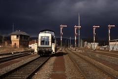 290 004 DB in Meckesheim (uhrpfälzer) Tags: eisenbahn zug lok br290 290 formsignale stellwerk bahnhof db wetter meckesheim badenwürttemberg