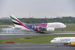 A6-EOH Airbus A380-861 (ICC Cricket World Cup 2019 Livery) (3) (Disktoaster) Tags: dus düsseldorf airport flugzeug aircraft palnespotting aviation plane spotting spotter airplane pentaxk1