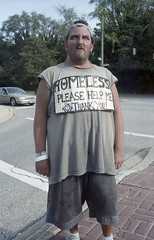 Fred (ADMurr) Tags: baltimore northern parkway fred homeless sign 2013 new scan leica m4 kodak 35mm summaron portra