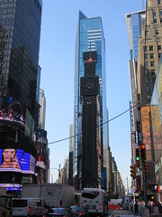 2019 Setting Up Digital on Number One Times Square 8347 (Brechtbug) Tags: 2019 setting up digital number one times square building morning with waterford crystal ball turned off its pole new york city looking south nyc broadway architecture eve holiday buildings signs year years ad electronic billboard 05172019