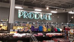 Produce Marquee-Style Sign (Retail Retell) Tags: kroger for goodness sake olympic spirit décor store powder springs road marietta ga retail rare package 1990s neon