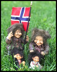 PAD 137 Happy May 17th to my Norwegian friends! (Dragon Weaver) Tags: may17 0517 2019 pad trolls norwegian day figurines
