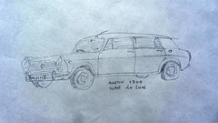 A Sketch Of An Austin 1300 Super DeLuxe (Kelvin64) Tags: a sketch of an austin 1300 deluxe super