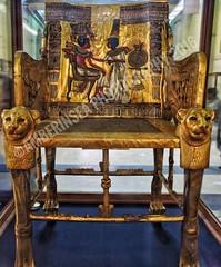 Tutankhamun's gold throne (Amberinsea Photography) Tags: thecairomuseum egyptianmuseumcairo cairo kairo tutankhamun throne gold chair ancientegypt amarna treasure culture ancientculture ancient amberinseaphotography egypt ancientegyptianart art ancientart pharaoh kingtut tut