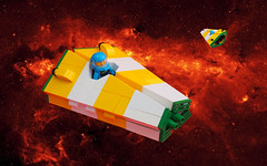 Wedge Ship (David Roberts 01341) Tags: lego space spaceship spacecraft scifi toy minfigure stripes