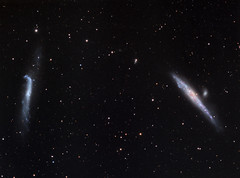 NGC 4631/NGC 4656/57 - The Whale and Hockey Stick Galaxies (AllAboutRefractors) Tags: astrophotography astronomy astrophysics galaxies refractor tec180 qsi starlightxpress deepsky nightsky