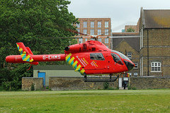 London's Air Ambulance in Acton (kertappa) Tags: img1496 air ambulance londons london hems doctor paramedics hospital glndn emergency helicopter kertappa acton berrymede junior school