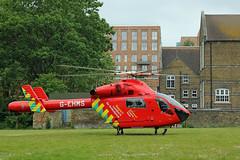 London's Air Ambulance in Acton (kertappa) Tags: img1433 air ambulance londons london hems doctor paramedics hospital glndn emergency helicopter kertappa acton berrymede junior school