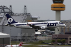 LOT (600th E-jet Livery) | Embraer ERJ-175LR | SP-LII | Arriving In Hamburg (Fuhlsbuettel) After Completing It's Flight From Warsaw Chopin Airport (KianL Aviation Photography) Tags: aviation avgeek aircraft airplane airlines airways aviationphotography embraer e175 ejet lot special speciallivery 600th hamburg hamburgairport photography planes planegeek passenger canon spotting germany splii 7dmk2 polish poland 100400mk2 flughafenhamburg