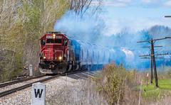 CEFX 6020 South, Blackmar, MI (Cdr. McBragg) Tags: 6020 cefx sd60 soo signs smoke