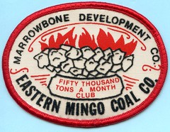 Marrowbone Development Co. Eastern Mingo Coal Co. patch (Coalminer5) Tags: coalmining coalminer coalmemorabilia coalcollectibles coal mining miningmemorabilia miningcollectible miningartifacts miner sewonpatch patch