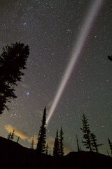 STEVE the hot ribbon of Plasma; 6000 degrees purple stripe (John Andersen (JPAndersen images)) Tags: alberta andromeda canon forgetmenot kananaskis mountains night pond stars steve