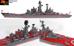 Battlecruiser Kirov - 3 views (Eínon) Tags: battlecruiser granit shipwreck kirov peter great cold war cccp urss soviet union lego large heavy missile guided