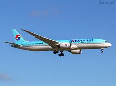 HL7209 Boeing 787 Korean Air (@Eurospot) Tags: hl7209 boeing 787 7879 lebl barcelona koreanair