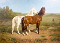Rosa Bonheur (French, 1822-1899), American Mustangs, c. 1885-1890.  Oil on canvas.  Collection of Tweed Museum of Art, UMD.  Gift of Howard W. Lyon.  D57.x11 (karadogansabri) Tags: duluth minnesota unitedstates us