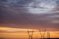 Sunset view of power cables (Rushay) Tags: cables powerline sunset steel pylon orange electricity portelizabeth southafrica