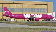 TF-SKY LMML 17-05-2019 WOW Air Airbus A321-253N CN 7694 (Burmarrad (Mark) Camenzuli Thank you for the 18.9) Tags: tfsky lmml 17052019 wow air airbus a321253n cn 7694