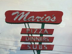 Neon pizza (jimsawthat) Tags: spoon urban tucson arizona neon metalsign vintagesign diner pizza greasyspoon