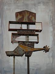 Rusty spur (jimsawthat) Tags: enhanced rust metalsign vintagesign neon urban arizona tucson