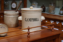 Golden Lion Pharmacy 051 (Andras Fulop) Tags: kiscellmuseum museum exhibition budapest hungary canon pharmacy drugstore jar camphora stilllife