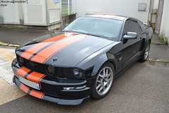 Ford Mustang GT (Monde-Auto Passion Photos) Tags: voiture vehicule auto automobile ford mustang gt coupé sportive noir black bicolore france courtenay rassemblement