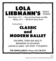1967 lola liebmann's dance studios (albany group archive) Tags: ny history albany 1967 lola liebmanns dance studios new scotland road salem north allen street instruction school 1960s 185 old albay vintage picture photo photograph historical historic