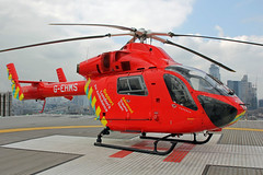 London's Air Ambulance at the Royal London Hospital (kertappa) Tags: img1782 air ambulance londons london hems doctor paramedics hospital glndn emergency helicopter kertappa royal whitechapel