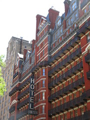 2019 Chelsea Hotel - 222 West 23rd Street NYC 8659 (Brechtbug) Tags: 2019 chelsea hotel reopening month or 222 west 23rd street between 7th 8th avenues nyc 05182019 new york city architecture sign signs built 1884 1885 twelvestory redbrick building that is now was one citys first private apartment cooperatives designed by philip hubert style described queen anne revival victorian gothic features include flower ornamented iron balconies facade grand staircase it tallest