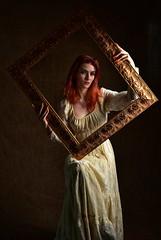 Ellie (Mr_Pudd) Tags: nikond750 nikon cotton dress redhair redhead woman girl elli gilt pictureframe portrait
