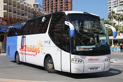 5993 JZP, Calle Gerona, March 22nd 2018 (Southsea_Matt) Tags: 5993jzp 45 irizar jet2 callegerona benidorm spain march 2018 spring canon 80d bus omnibus coach passengertravel publictransport vehicle