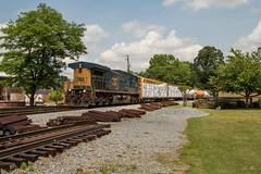 Well, find a set! (travisnewman100) Tags: csx train railroad manifest local a703 freight kennesaw wa subdivision atlanta division georgia ac44cw yn3b long hood forward station western atlantic