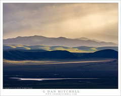 Clearing Storm, Evening (G Dan Mitchell) Tags: sanluisobispo country mountains hills plain green spring season storm clears evening light valley nature landscape travel clouds sky ray beam water lake carizzoplain natiional momument california usa north america