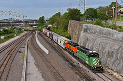 Southbound Local in Kansas City, MO (Grant Goertzen) Tags: bnsf railway railroad locomotive train trains ns norfolk southern emd bn burlington northern engine transfer south southbound local kansas city missouri