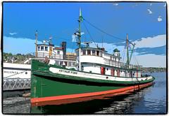 Tugboat Arthur Foss (NoJuan) Tags: artfilter olympusartfilter penf olympuspenf 918mm olympus918mm microfourthirds micro43 mirrorless seattlewa lakeunion northwestseaport arthurfoss tugboat woodentugboat