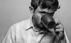 Determined eyes! (Bhuvan N) Tags: portrait portraits blackandwhite portraitseries portraitproject kaapilota friends friend serious coffee tea drink godox ocf strobist nikon tamron noir monochrome bwportrait eye guy male man softlight indoor bw bnw absoluteblackandwhite mono godoxtt600