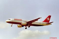 SWISSAIR A320 HB-IJS (Adrian.Kissane) Tags: airliner heathrow london jet jetplane aeroplane aircraft airbus plane sky 1999 a320 hbijs lhr swissair 782
