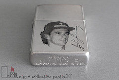 1993-12 L-IX Ayrton Senna - unique copy of this lighter, engraved, painted, plated with white gold (private collection) 02 (Pastis57) Tags: collection zippo pastis57 pastis pascal tissier lighter accendino feuerzeug mechero briquet zippoライター cigarette 打火机 upaljač 打火機 легче ljusare tändare 1993 ayrton senna formule 1 f1 grand prix brazil brésil