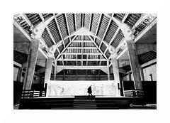 Berne I (francine koeller) Tags: salineroyalearcetsenans arcetsenans architecture lignes berne nb bw m42 tokina tokina28mm charpente frame structure
