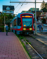 A MUNI PASSENGER WAITS FOR A LRV4 TO STOP FOR HIM (AvgeekJoe) Tags: 1835mmf18dchsm a california d5300 dslr lrv4 lightrail muni munimetro munimetrolightrail newsiemenslrv nikon nikond5300 s200 s200sf sfmuni sanfrancisco sanfranciscomunicipalrailway sanfranciscomunicipaltransportationagency sanfranciscomunicipaltransportationagencysfmta siemenslrv siemenslrv4 siemensmobility siemenss200 siemenss200sf sigma1835mmf18 sigma1835mmf18dchsmart sigma1835mmf18dchsmartfornikon sigmaartlens usa lightrailvehicle masstransit masstransportation publictransit publictransportation