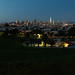Taking In the San Francisco Blue Hour From Mission Dolores Park